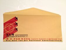 KLM AMSTERDAM - BATAVIA 3 X WEEKLEY OCTOBER 1937 ENVELOPE K.L.M.
