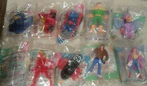 Vintage McDonalds Marvel Happy Meal Lot of 10 - Wolverine Venom Spider-Man more