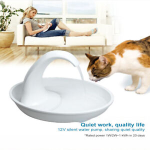 2.34L Automatic Electric Pet Water Fountain Dispenser Drinking Bowl For Cat Dog#
