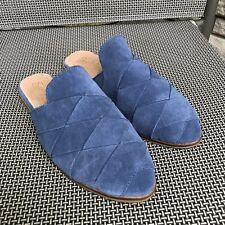 Seychelles Survival Blue Suede Mules, 6.5