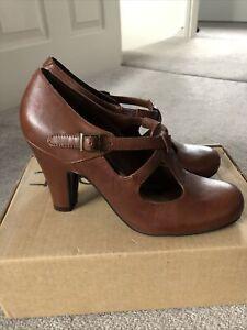 Womens Dark Tan High Heel Shoes Size 5.5 Next BNIB