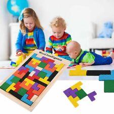 New Wood Tetris Building Block Puzzle Montessori Preschool Educational Kid Toys