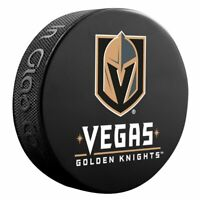 Official Vegas Golden Knights Basic Tam Logo Collectors NHL Hockey Game Puck
