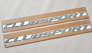 Clubsport Chrome Script Badge X 2 For HSV VY with Self Adhesive Back Hi Quality.