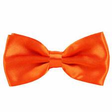 Papillon da uomo arancione raso