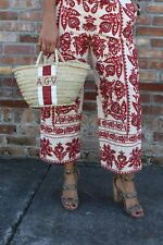Zara Red Embroidered Culottes Size MEDIUM BNWT