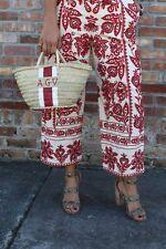 Zara Red Embroidered Culottes Size MEDIUM BNWT