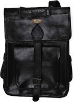 Bag Leather Backpack Laptop Men Travel Rucksack School Satchel Vintage Shoulder