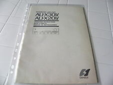 Sansui Au-x301i/201i Owner's Manual Operating Instructions istruzioni