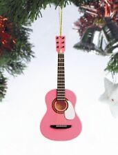 "Miniature 5"" Pink Acoustic Guitar Hanging Tree Ornament OG12PK"