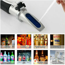 Handheld Alcohol Refractometer 0~80% With ATC Liquor Tester Meter Measuring Tool