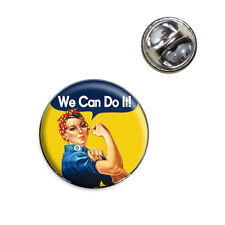 Rosie the Riveter We Can Do It Lapel Hat Tie Pin Tack