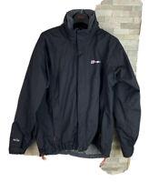 Berghaus Mens Size L AQ2 Black Lightweight Waterproof Jacket Coat