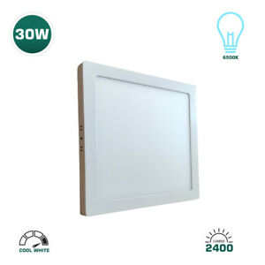 ROTHER 30W SQUARE SURFACE MOUNT LED CEILING PANEL LIGHT - COOL WHITE - 6500K
