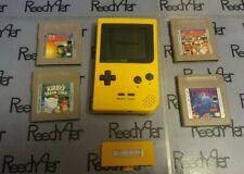 Nintendo Game Boy Pocket Yellow system Tetris Dr Mario F1 Race Kirby's DreamLand