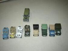 lot  8 jeeps  et 1  land rover métal et plastique