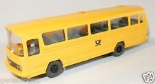 MICRO WIKING HO 1/87 BUS MERCEDES O 302 post poste ptt avec conducteur