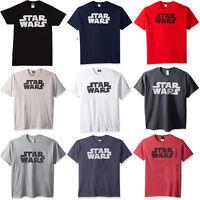 Star Wars Classic Font Design Men's Official Simplest Logo T-Shirt