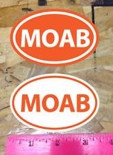 Moab Utah Off Road Uhv Mountain Bike sticker decal Orange White - 2 for 1 bonus
