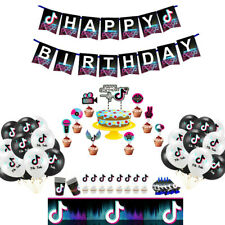 TikTok Music Video Cups Plate Tablecloth Balloon Party Supplies Tik tok Birthday