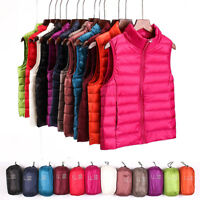 Womens Ultralight Down Jacket Vest Puffer Vest Coat Sleeveless Waistcoat Outdoor