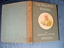 BEATRIX POTTER. THE ROLY-POLY PUDDING 1ST AMERICAN EDITION . 1920s