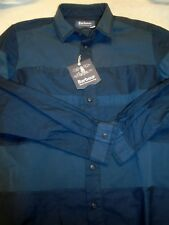 Barbour White Mountaineering Finhara Cotton Sport Shirt NWT Medium $245 Navy
