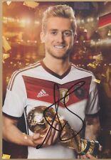 ANDRE SCHÜRRLE Dortmund DFB WM 2014 GOLD AUTOGRAMMKARTE LIMITIERT SIGNIERT RAR
