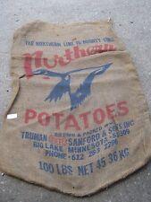 Truman Pete Sanford Big Lake MINN Eagle Northern Potatoes Vintage burlap sack