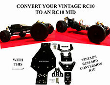 Vintage Team Associated RC10 Mid Motor Conversion Kit (Global Shipping Avail)