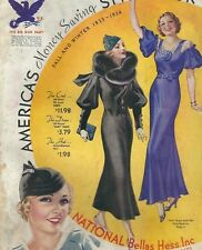 MA-015 National Bellas Hess Catalog Fall and Winter 1933-1934 Dresses Millinary