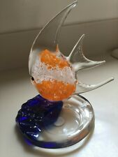 Partylite Tropical Angel Fish Glass Tealight Candle Holder Riviera #P7154