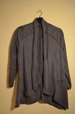 Topshop grey stonewash linen blazer - UK 10 - vintage retro coat jacket boho