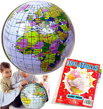 INFLATABLE GLOBE BLOW UP BEACH BALL TOY GIFT BOYS GIRL BIRTHDAY PARTY BAG FILLER