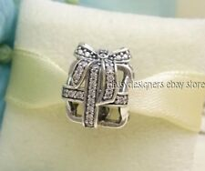 NEW Authentic Pandora ALL WRAPPED UP Sparkling Present Charm 791766CZ RETIRED