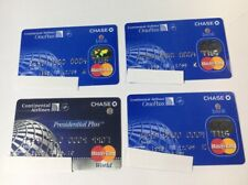 4 Expired Credit Cards For Collectors - Cont. Airlines Chase Mastercard (7099)