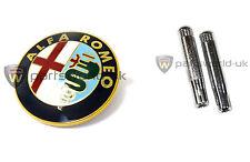 Alfa Romeo Gtv Y Spider Parrilla Frontal / Sombrero Insignia & Par De Cerradura De Puerta Pins