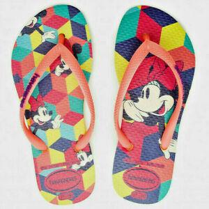 Havaianas Disney Cool Neon Yellow Rubber Flip Flops Brazil 29/30 - UK 12 Kids