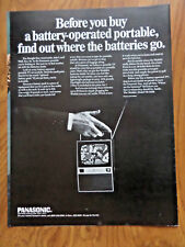 1968 Panasonic Television TV Ad  Battery Operated Portable