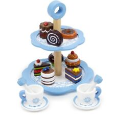 Kids Chocolate Pastry Tower Play Set Cupcake Donut Food Pretend Kitchen New