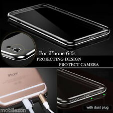 iPhone 6 & 6S TPU Back Cover Clear Case Full Camera Protection With Dust Plugs