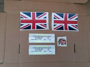 MILITARY LANDROVER STICKERS (union Jacks/warning Interior Labels)an a fun 51st!