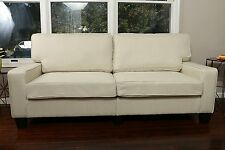 LIGHT BEIGE Sofa Couch Love Seat College Dorm Apartment Living Room Modern 78""