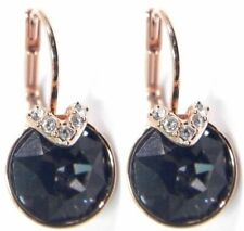 Swarovski 5299317 Bella V Pierced Gray Crystal Rose Gold Plated Earrings