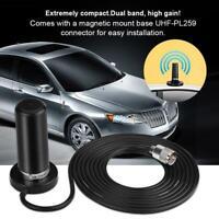 Dual-Band Car Antenna Magnetic Mount PL-259 For Car Mobile Radio KT8090 TM-218
