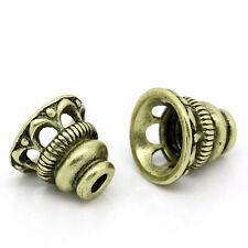 50 Coupelles pr Perle Filigrane Couleur Bronze 10x9mm B30159(Pr perle 18mm)