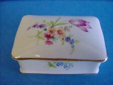 More details for princess royale flowers design rectangular trinket box - english bone china 380