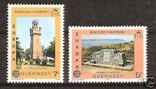 Guernsey # 161-2 Mnh Europa Victoria Monument & Seamen