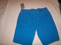 New Hurley 84 men sz 32 or 34 Lowrider khaki jeans shorts skate turquoise blue