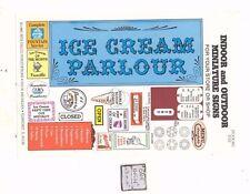 Ice Cream Parlour Signs -  S103 - 1/12 Scale dollhouse miniature -